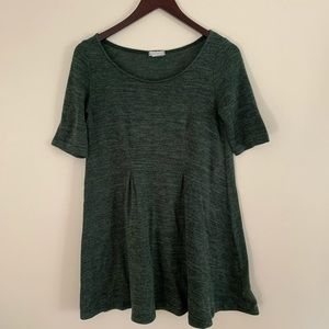 Cooperative (UO) Green Cozy Trapeze Swing Dress